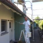 Maler bringt frische Frische