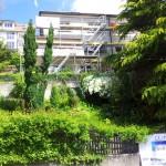 Rebbergstr Fassadensanierung mit Strahlenschutznetz
